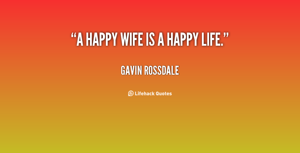 how to live a happy life with wife