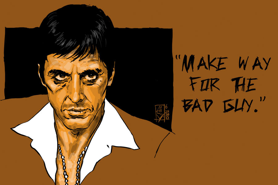 Scarface quotes about love quotesgram for Occhiali al pacino scarface
