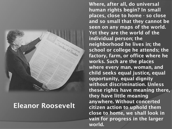 Eleanor Roosevelt Human Rights Quotes. QuotesGram