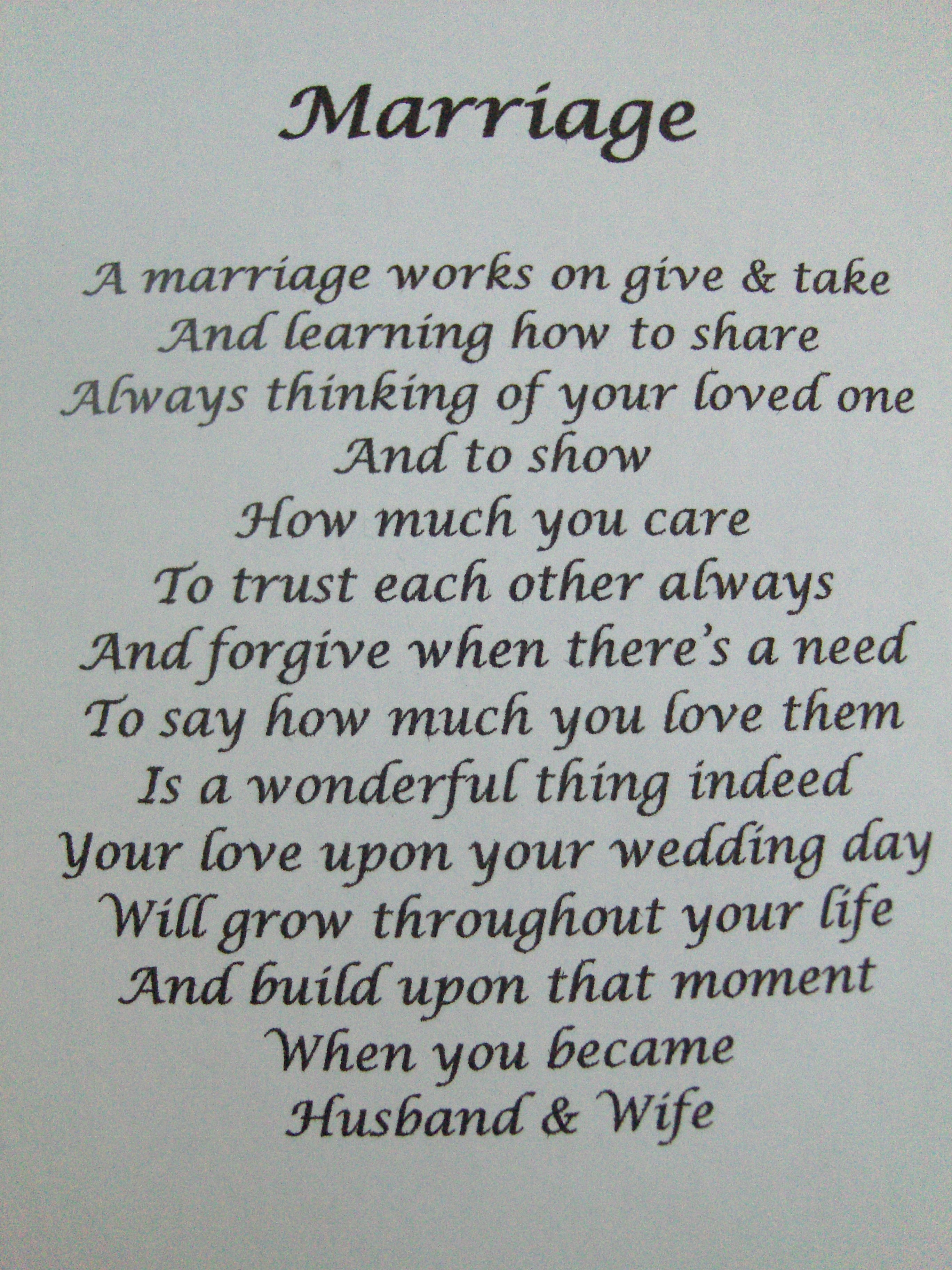 Framed Marriage Poems And Quotes QuotesGram