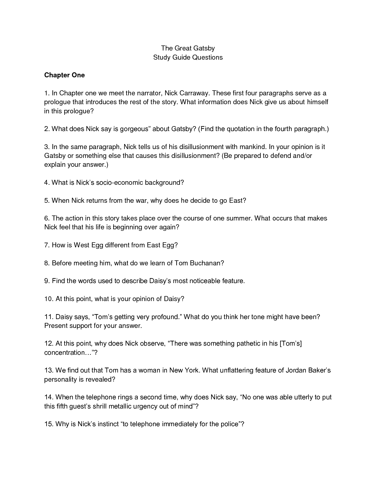 great gatsby chapter 2 essay Great gatsby, chapter eight essay introduction english - great gatsby practice exam essay look again at chapter 8 then, respond to the tasks i.