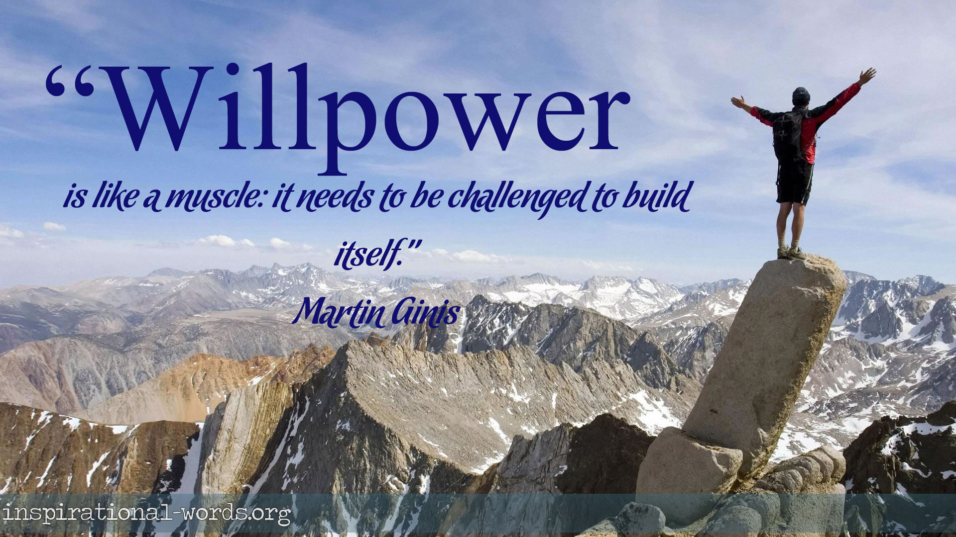 Inspiring Quotes: Inspirational Quotes On Willpower. QuotesGram