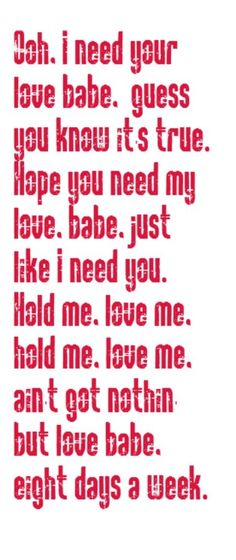 Beatles Song Quotes About Love Quotesgram