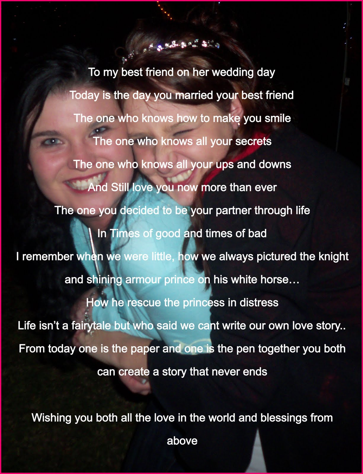 Wedding Day Blessing Best Friend Quotes QuotesGram