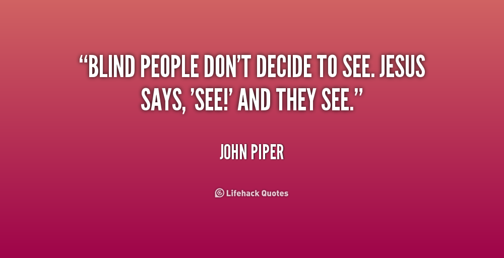 Quotes About Blind People Quotesgram
