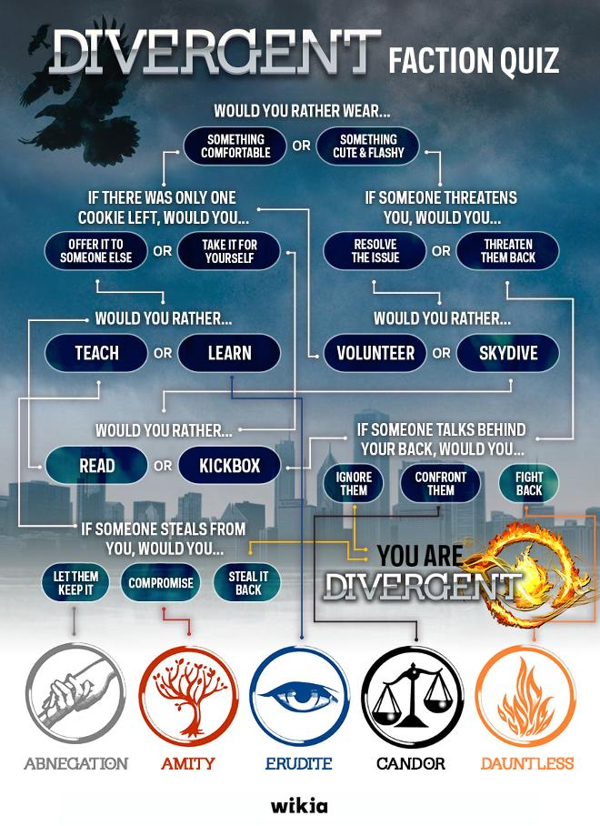 What does each faction mean in divergent
