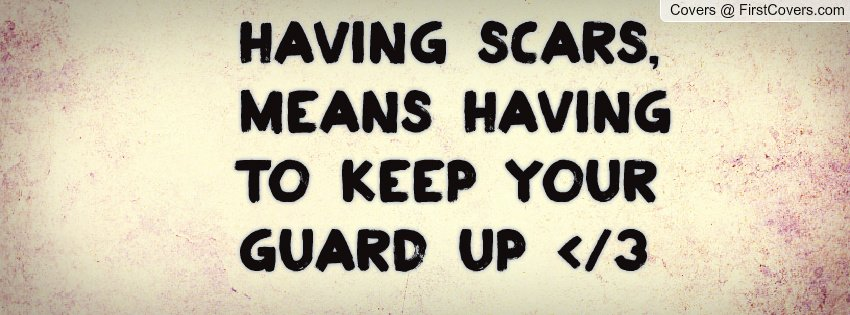 keep your guard up in a relationship