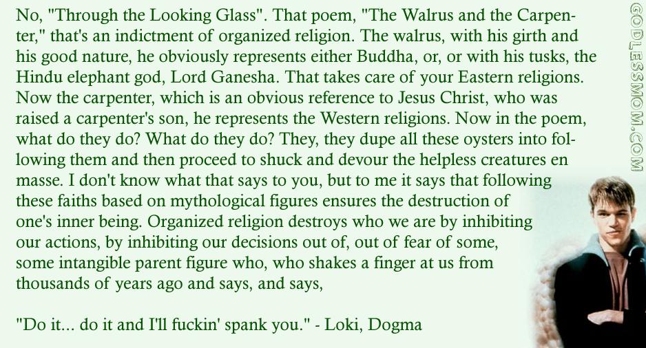 rufus dogma quotes quotesgram