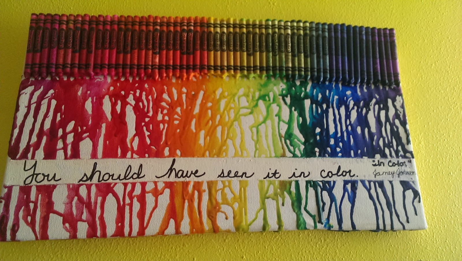 Crayon quotes quotesgram for Melted crayon art with quotes