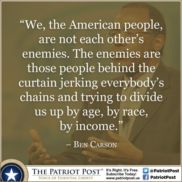 Carson Quotes: Ben Carson Quotes Divide Us. QuotesGram