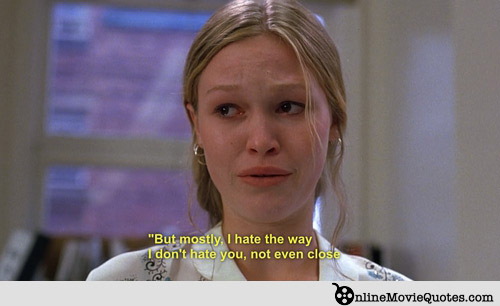 10 Things I Hate About You Dad Quotes Quotesgram: Julia Stiles Quotes. QuotesGram
