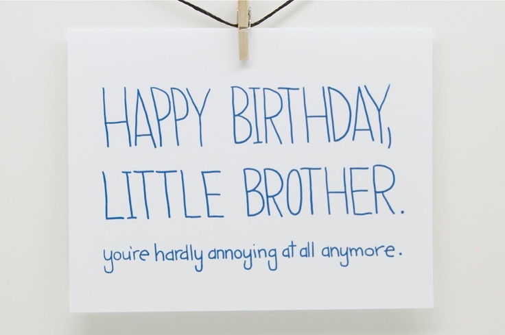 Funny Birthday Quotes For Your Brother: Little Brother Birthday Quotes. QuotesGram