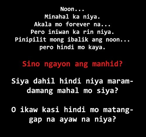 Sad Quotes About Depression: Feeling Mayaman Tagalog Quotes. QuotesGram
