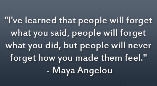 28 Touching Quotes To Make Someone Feel Special: People Feel Maya Angelou Quotes. QuotesGram
