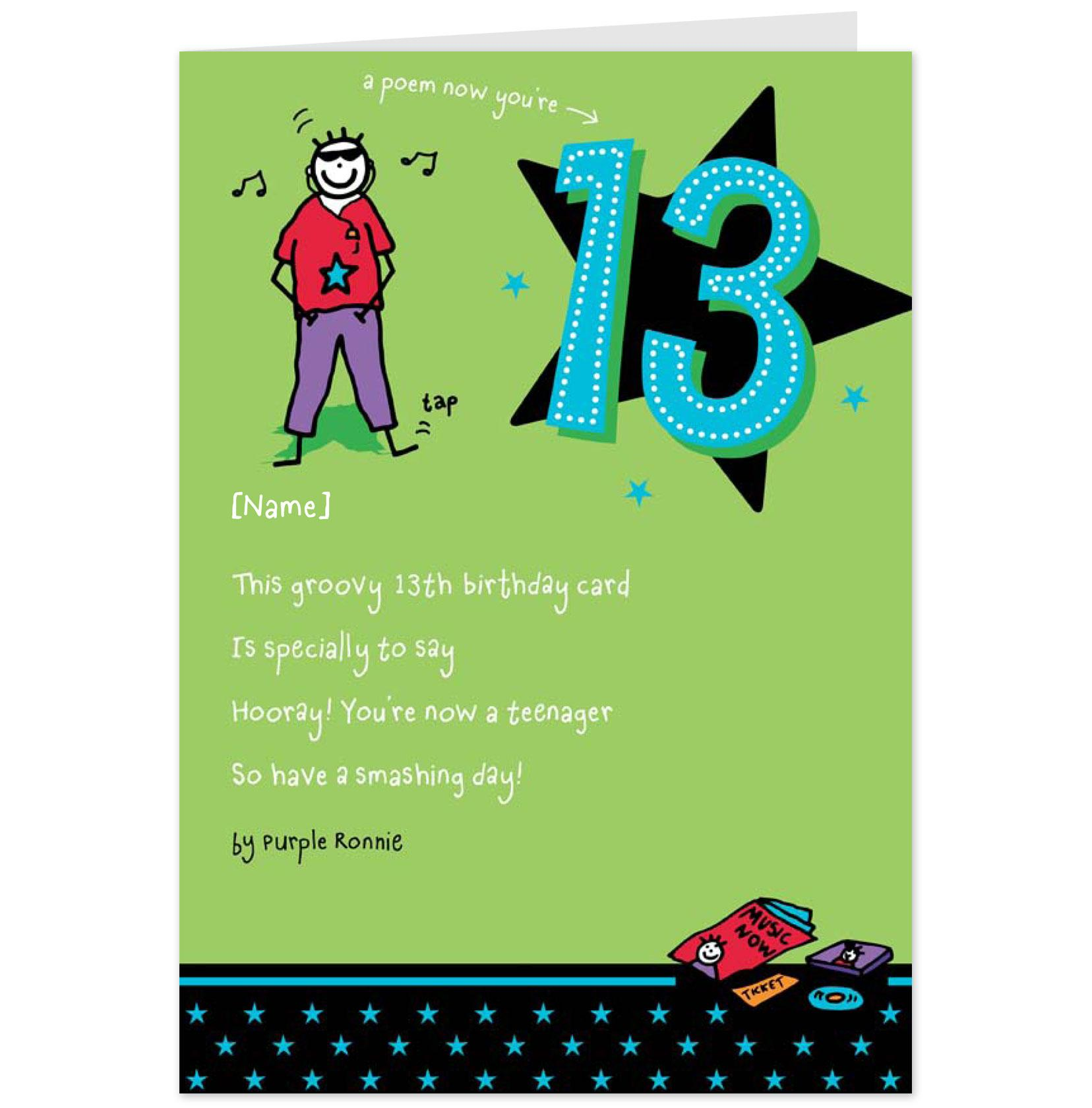 13th Birthday Quotes For Son Quotesgram