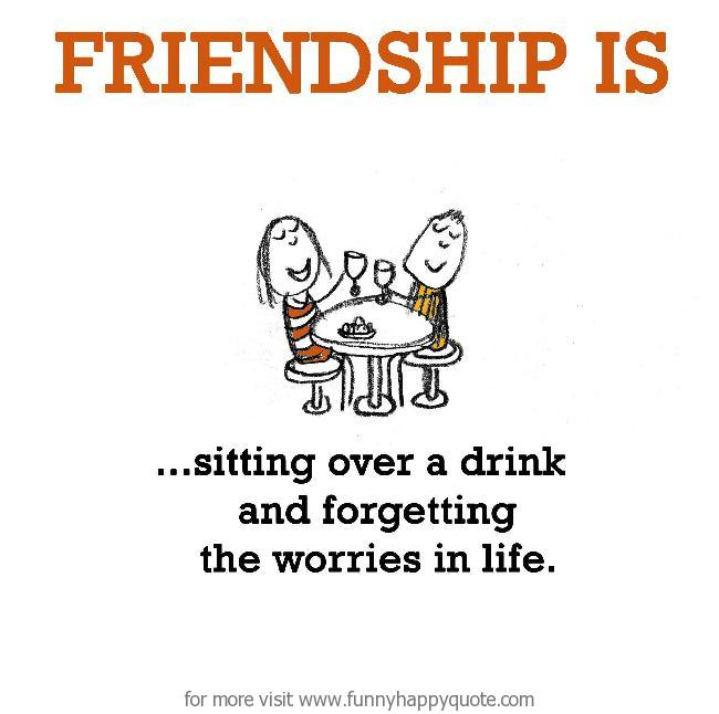 Funny Quotes About Friendship And Drinking: Funny Quotes About Living Together. QuotesGram