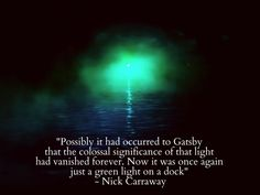 the great gatsby essays on the green light