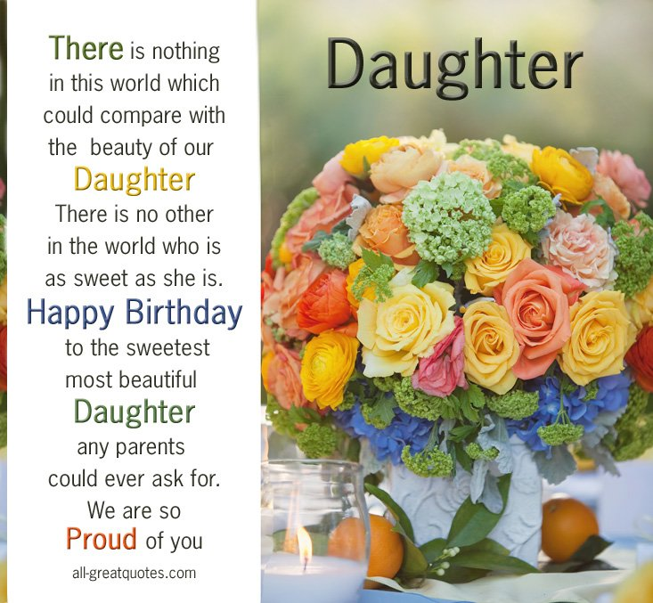 Happy 5th Birthday Quotes For Daughter: 15 Birthday Quotes For Daughter. QuotesGram