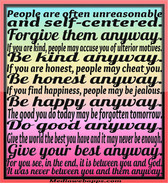 Mother Teresa Quotes People Are Often