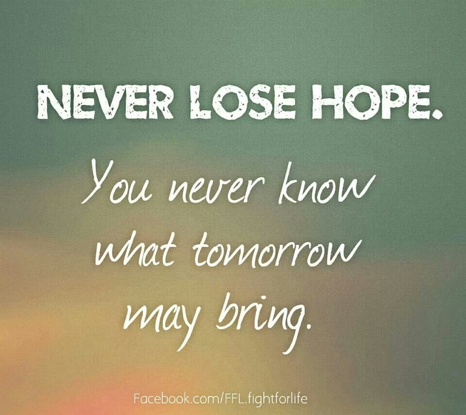 Hope Quotes: Never Lose Hope Quotes. QuotesGram
