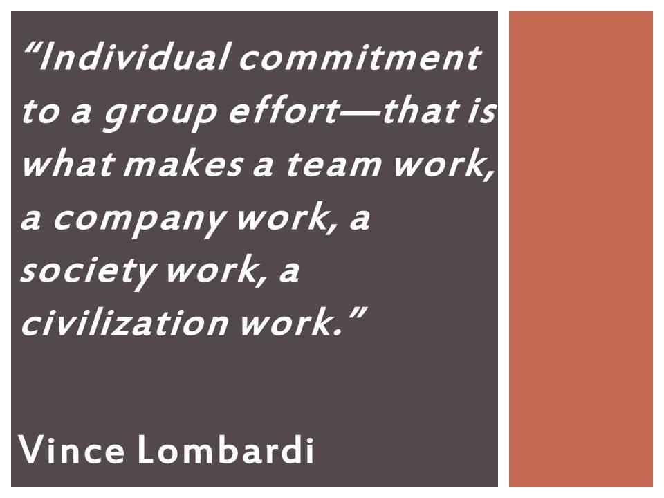 Individual Work Vs Teamwork