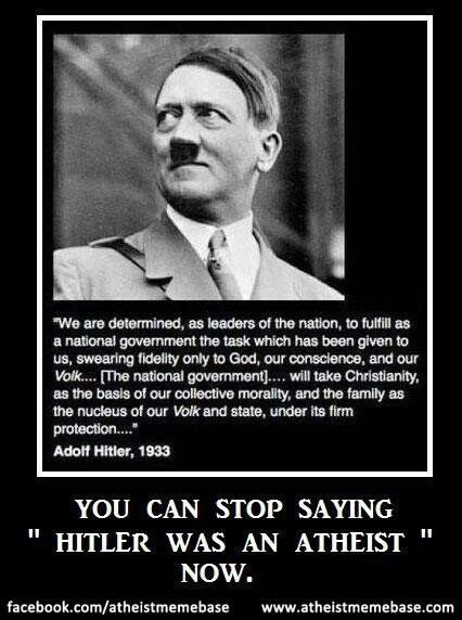 Hitler Atheist Quotes Quotesgram
