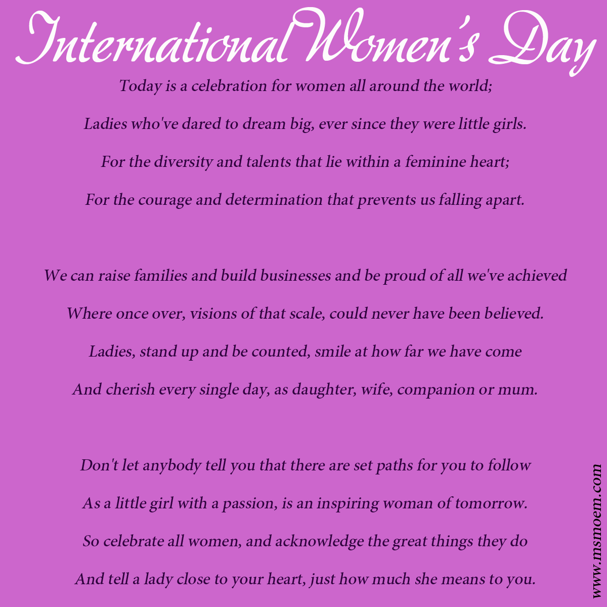 Women S Day Inspirational Quotes: International Womens Day Quotes. QuotesGram