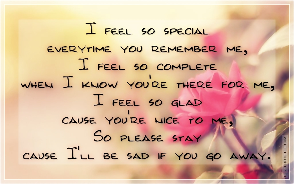 You Make Me Feel So Special Quotes: Feeling Complete Quotes. QuotesGram