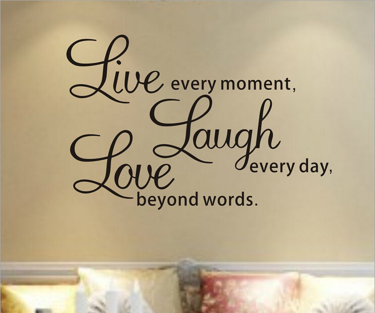 Wall quotes for living room quotesgram for Living room decor quotes
