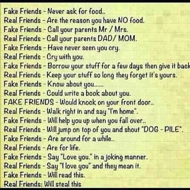 S 90 3 Fake Vs Real >> Fake Friends Vs Real Friends Quotes. QuotesGram