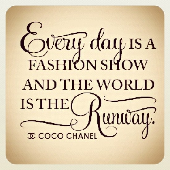 Famous Fashion Quotes Coco Chanel Quotesgram