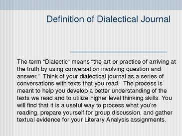 siddhartha dialectical journals chapter 7 Siddhartha reaction journal 12 ghp and ap mr neff directions: for each chapter, identify three (3) quotes and write a reaction paragraph to the quote.