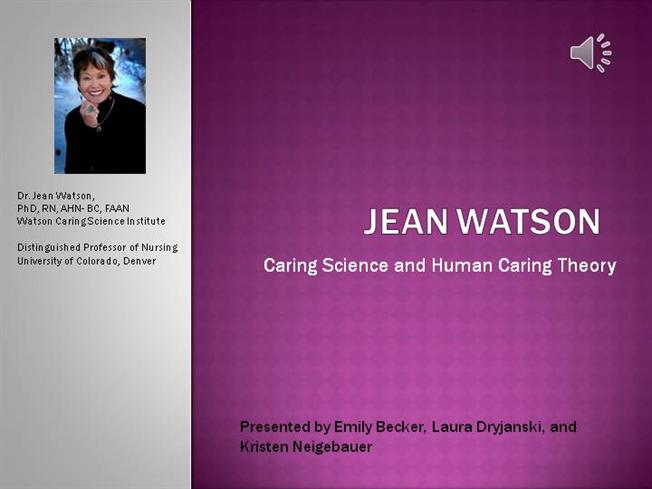 watsons theory of human caring with Watson's human care theory and the art of nursing: a comparative analysis watson's human care theory and the art of 2 assumptions of human caring theory.