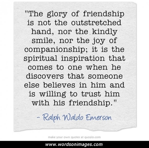 essay on friendship by ralph waldo emerson Emmerson essays on manners, self-reliance, compensation, nature self-reliance, compensation, nature, friendship as want to read: emmerson essays on man by ralph waldo emerson other editions want to read saving.