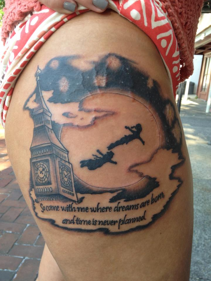 Peter pan so come with me quotes quotesgram for Where do tattoos come from
