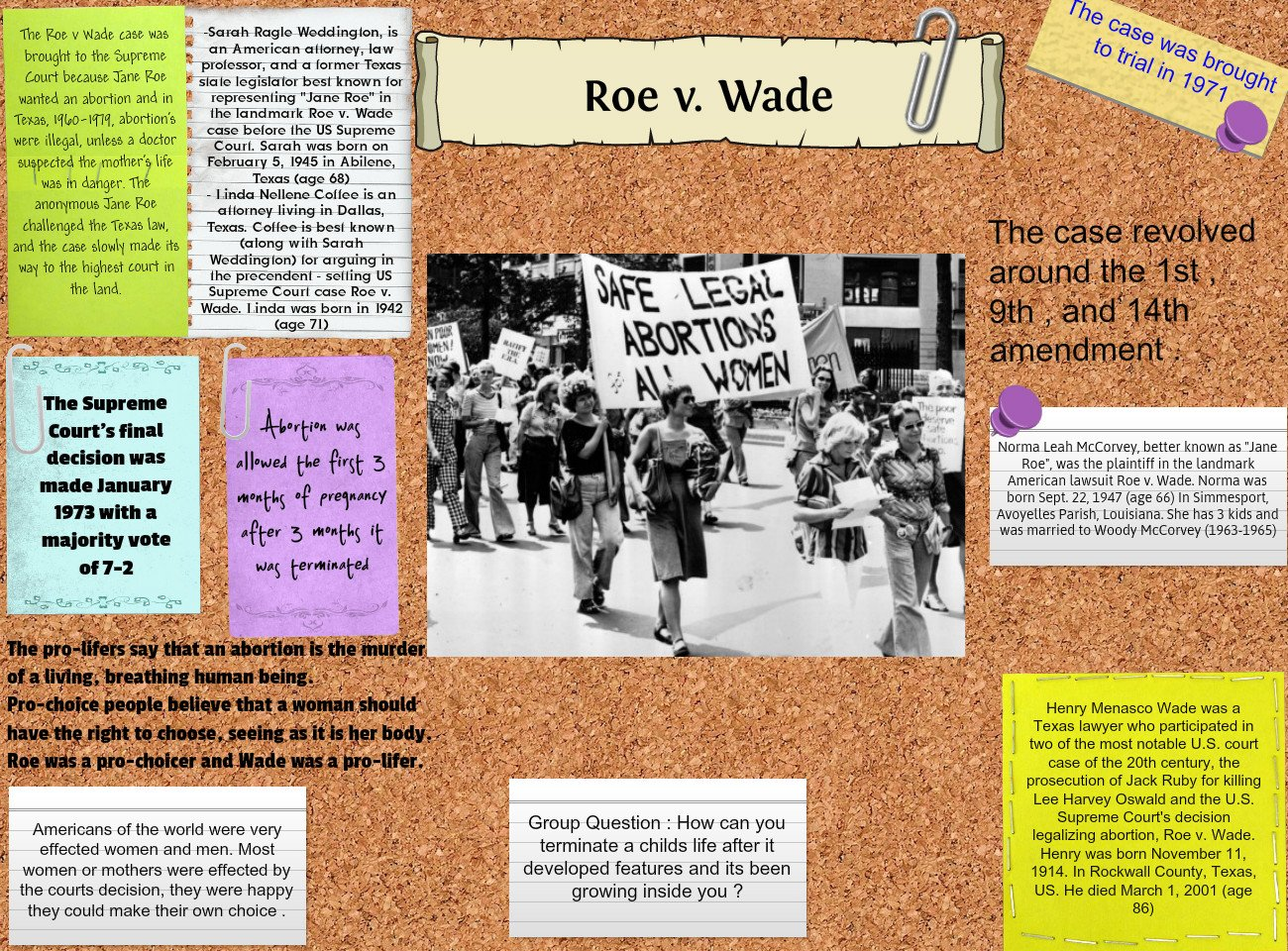 an analysis of roe vs wade case In roe v wade, 410 us 113 (1973), the supreme court held that a pregnant woman has a fundamental privacy right to obtain an abortion 410 us at 153, 155-56 the court's opinion was written by justice harry blackmun.