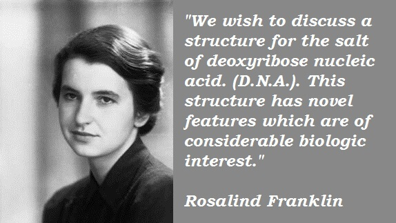 a research on the scientific career of rosalind franklin Rosalind franklin and dna: how wronged play photograph 51, which focuses on rosalind franklin and her x-ray diffraction work in the scientific process so.