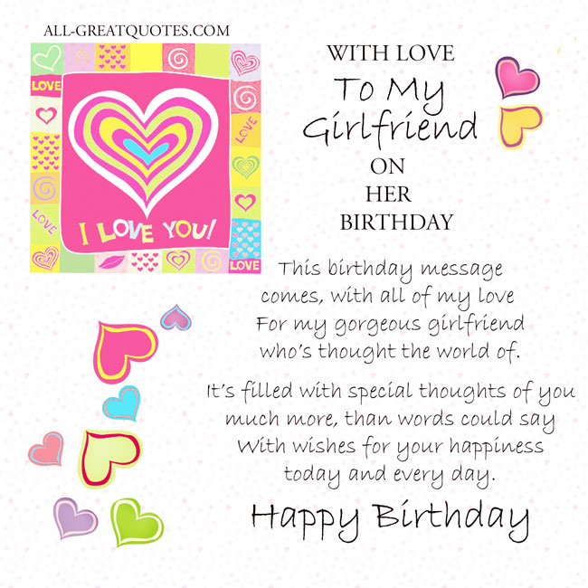 My Birthday Quotes For Girlfriend. QuotesGram