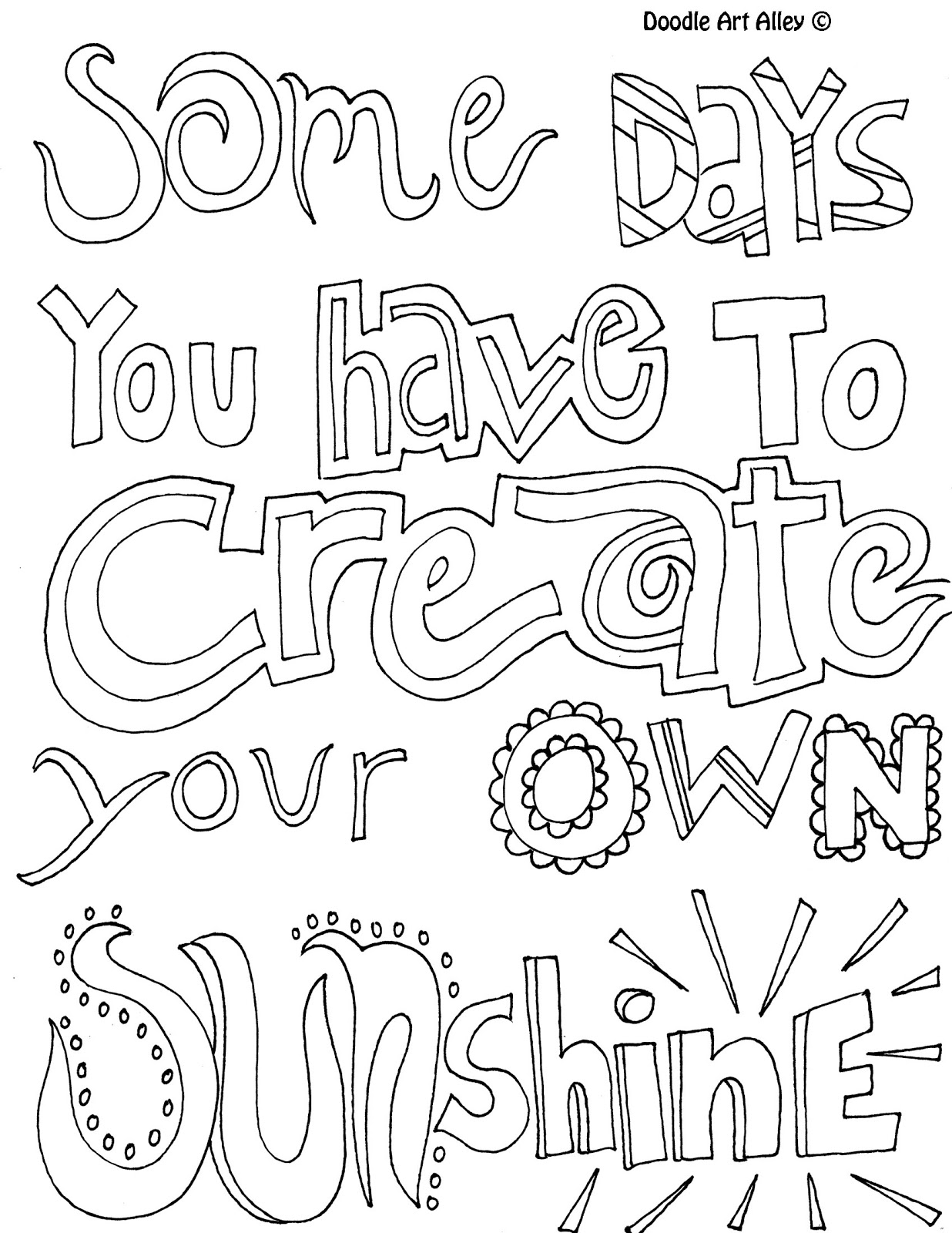 - Printable Doodle Quotes To Color. QuotesGram