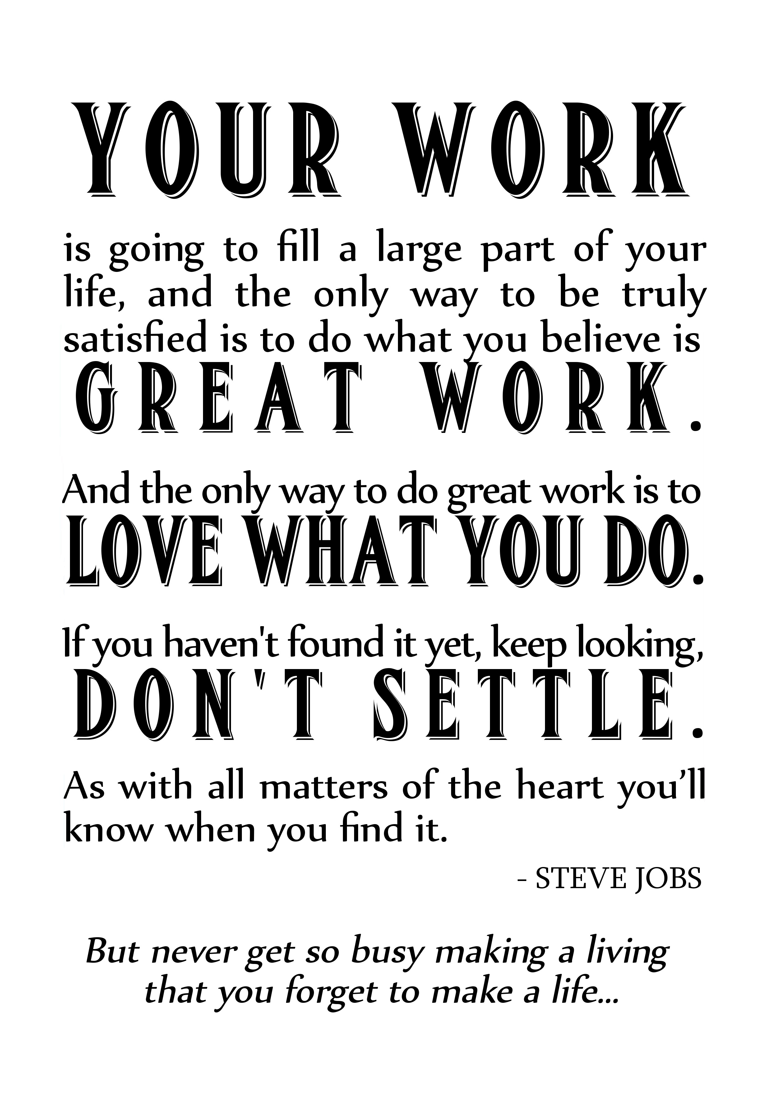 Love Working With You Quotes: Quotes About Work Steve Jobs. QuotesGram