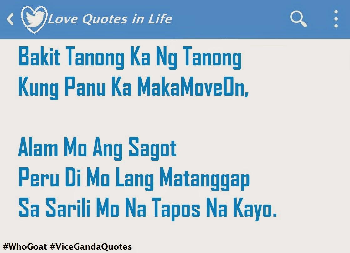 Vice Ganda Hugot Tagalog Quotes Quotesgram