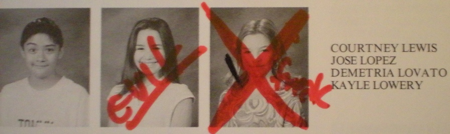 demi lovato yearbook pictures - photo #2