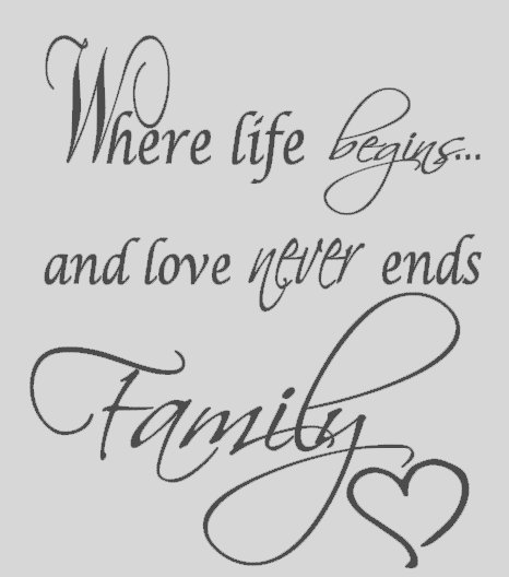 Family Love Quotes For Tattoos Quotesgram: Family Wall Vinyl Quotes. QuotesGram