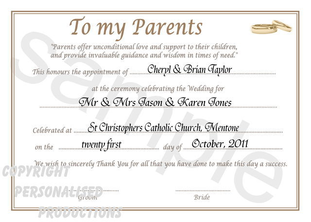 Thank Letter To Parents For Wedding: Thank You Quotes For Parents. QuotesGram