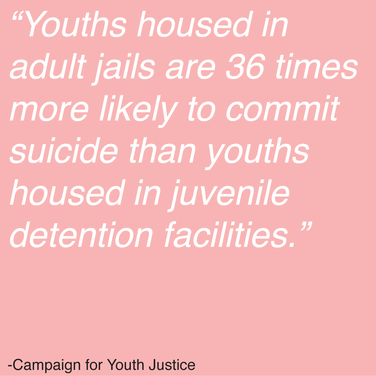 justice and the juvenile The coalition for juvenile justice (cjj) envisions a nation where fewer children are at risk of delinquency and if they are at risk or involved with the justice.