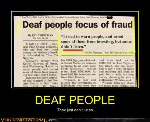 famous deaf people essays 5 reasons life as a deaf person is weirder than you thought 7 famous sci-fi inventions with huge flaws the movies ignore deaf people relied on the help of.