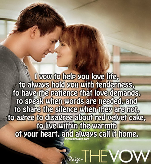 Quotes About The Movie The Vow Quotesgram