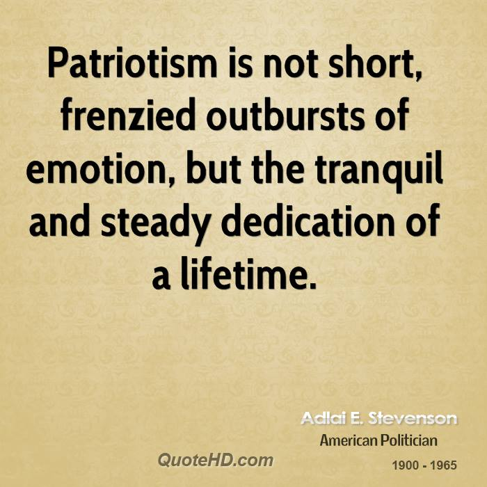 patriotism and nationalism essay George orwell, in his influential essay notes on nationalism distinguished patriotism from related concept of nationalism: by 'patriotism' i mean devotion to a.