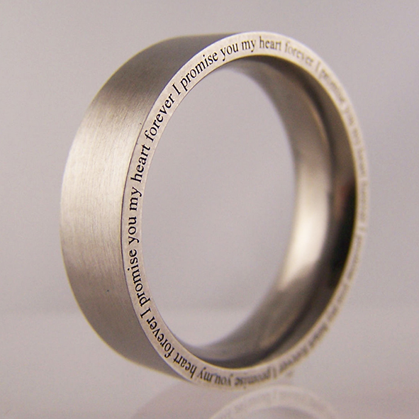 Love Quotes Ring Engraving