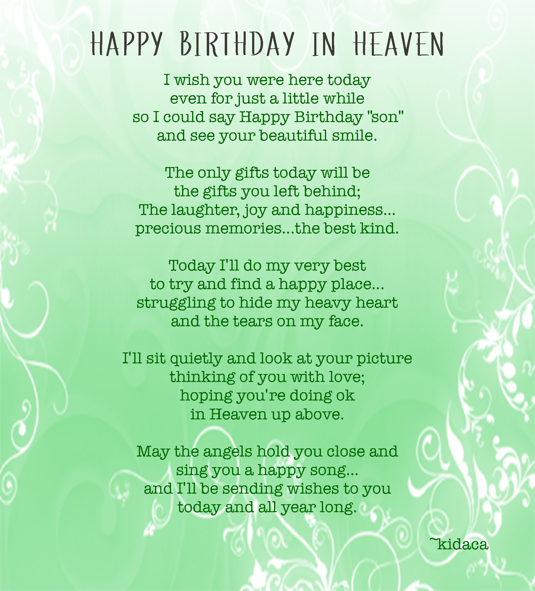 Birthday Quotes Passed Away. QuotesGram